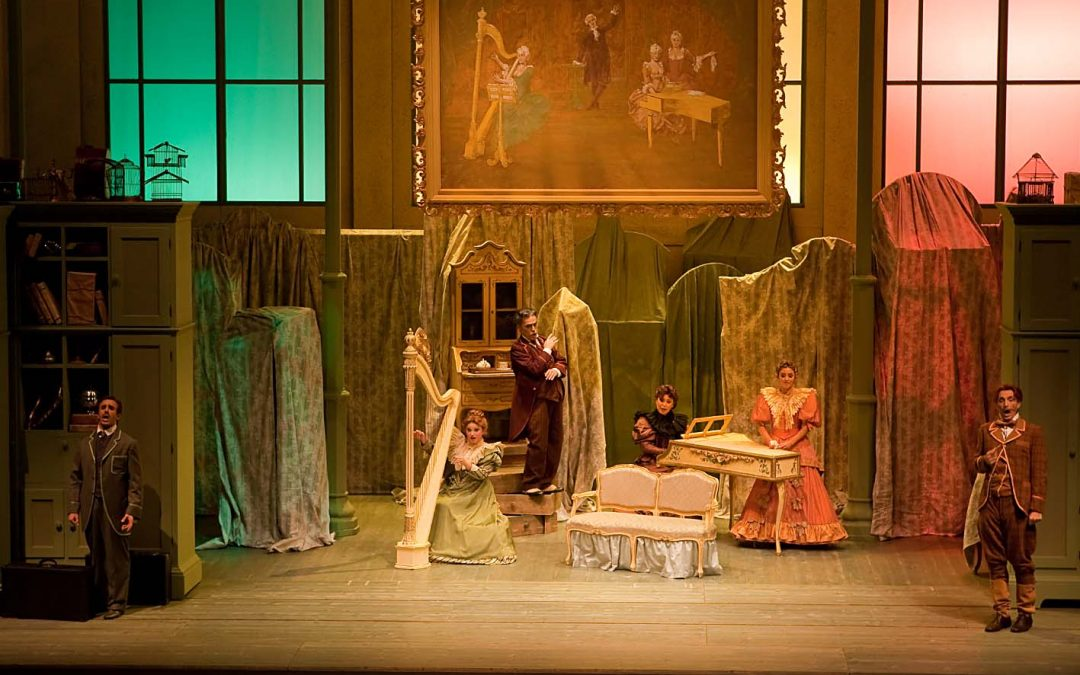 """Cimarosa's Opera """"Il Matrimonio Segreto"""" in the Teatro Comunale of Treviso (Italy)"""
