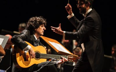 Montaño and Cañizares at the Baluarte Theater in Pamplona with the Navarra Symphony Orchestra