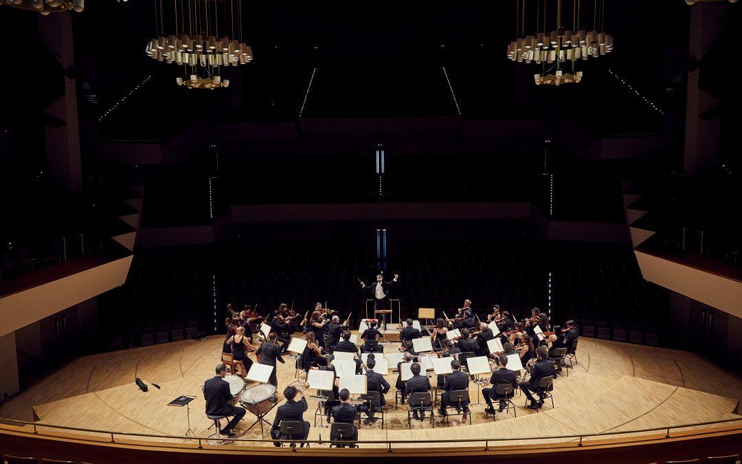 José Antonio Montaño with La Madrileña Orchestra at the National Music Auditorium of Madrid