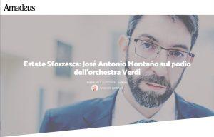 Amadeus Magazine José Antonio Montaño Orchestra Sinfonica Milano Verdi 2018 Milan
