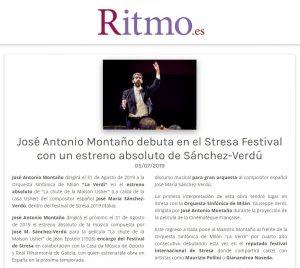 Ritmo La chute de la maison Usher José Antonio Montaño Director Orchestra Sinfonica Milano La Verdi Orquesta Sinfónica de Milan José María Sánchez-Verdú