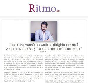 Ritmo José Antonio Montaño Orquesta Real Filharmonía de Galicia