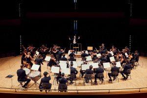 La Madrileña orquesta con instrumentos de época director José Antonio Montaño Auditorio Nacional de música de Madrid Catherine Jones Cello Mozart Haydn Martín y Soler