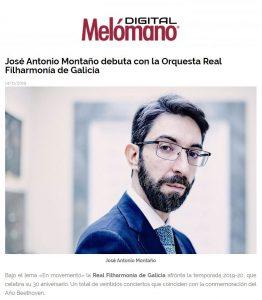Melómano José Antonio Montaño Orquesta Real Filharmonía de Galicia