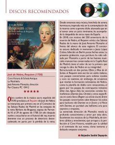 Melomano 261 Marzo 2020 Crítica CD Requiem Nebra José Antonio Montaño La Madrileña Coro Victoria Schola Antiqua Pan Classics