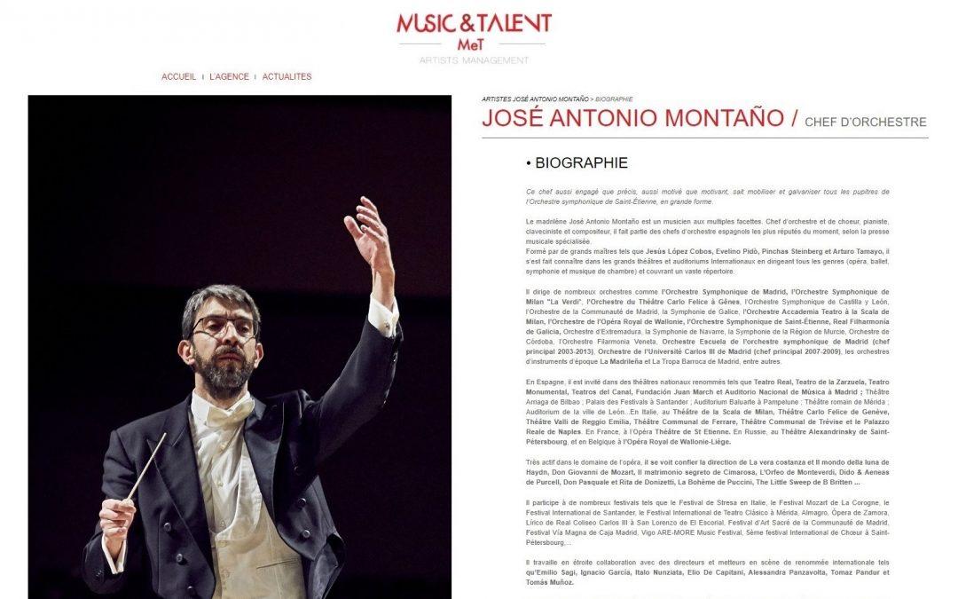 José Antonio Montaño será representado por la agencia Music & Talent en Francia y países francófonos