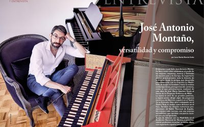 José Antonio Montaño cover of the prestigious music magazine Melómano.